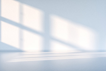 The cleaning house and the sunshine from the window, 3d rendering.