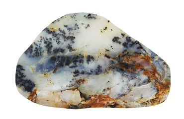 Raw Mineral Chalcedony on white background
