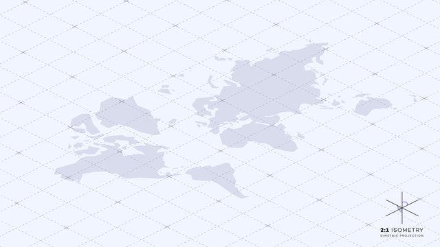 Abstract Geometric World Map.