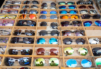 Sunglasses sold at local market. Israel