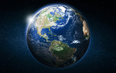 Wall Mural - America planet Earth globe