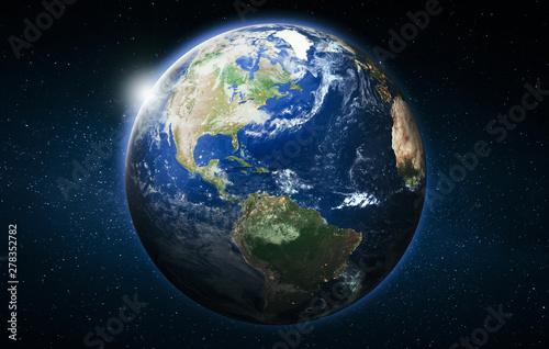 Wall mural America planet Earth globe