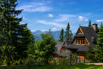 Summer landscape of Tatry mountains.