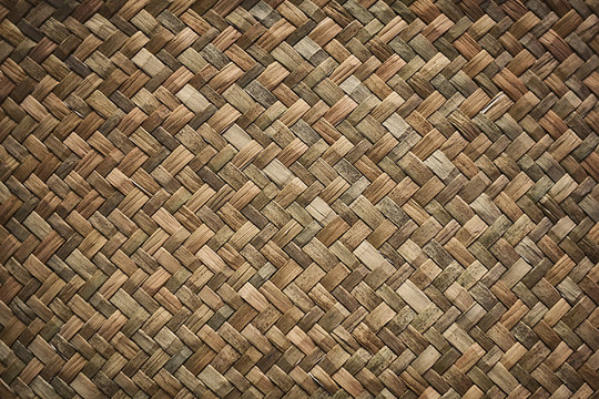 Natural wicker braided woven rattan Sedge grass texture background