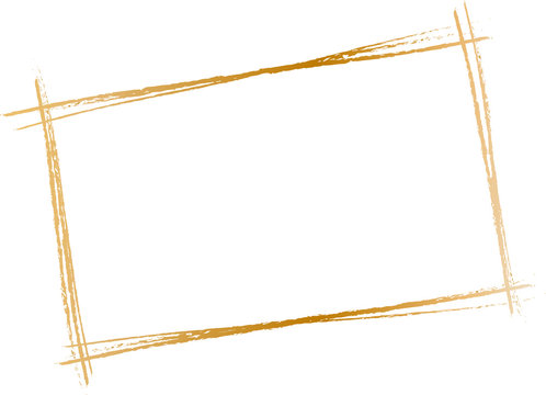 golden frame with chain isolated on white
