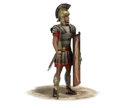 3D rendering, warrior character, illustration