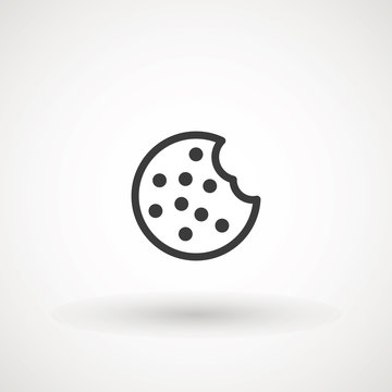 Browser Cookie Icon. Outline Style Icon Cookie icon vector isolated on white background, logo concept sign on transparent background, filled black symbol