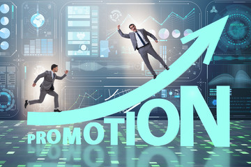 Concept of promotion with businessman