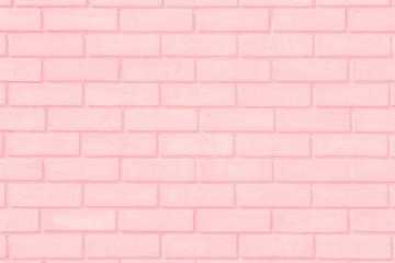 Pastal Pink and White brick wall texture background. Brickwork or stonework flooring interior.