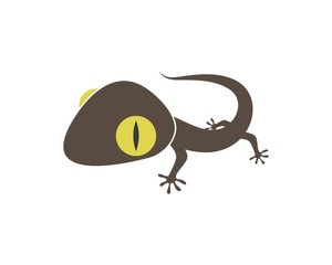 Gecko logo vector icon illustration
