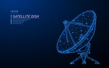 Abstract polygonal light design of satellite dish.