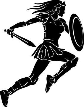 Female Warrior Leap