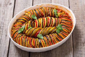 Traditional French cooked provencal vegetable dish - Ratatouille