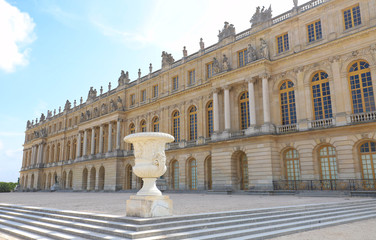 Outside view of Famous palace Versailles. The Palace Versailles was a royal castle.