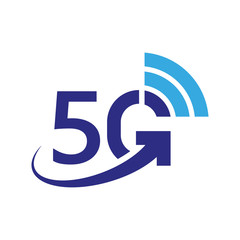 5G vector icon. 5th generation wireless internet network, connection information technology illustration. Mobile devices telecommunication business web networking. EPS 10.