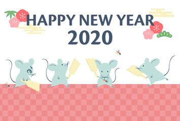 年賀状 子年 2020年