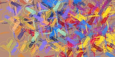 Foto op Plexiglas Paradijsvogel Handmade surreal abstract pattern. Modern artistic canvas. 2d illustration. Texture backdrop painting.