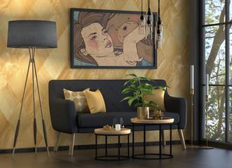 Wohnzimmer, Sofa, Sitzgruppe, Möbel