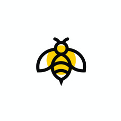 bee vector logo modern graphic abstract download quality