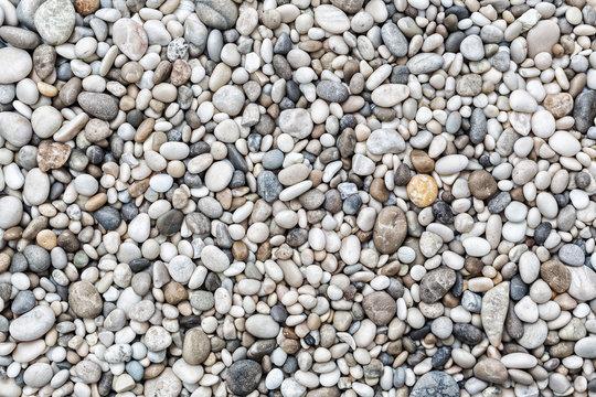 Sea pebbles background
