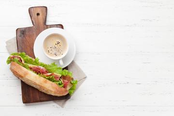 Keuken foto achterwand Snack Fresh submarine sandwich