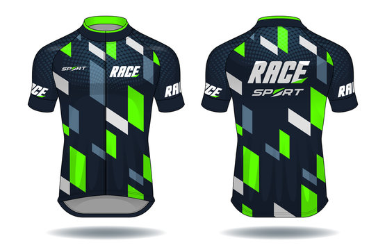 Cycle jersey.sport wear protection equipment vector