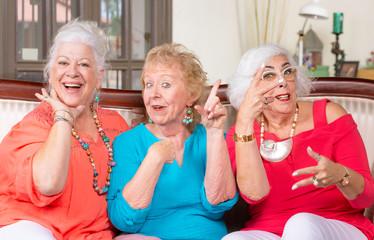 Three Senior Women Posing