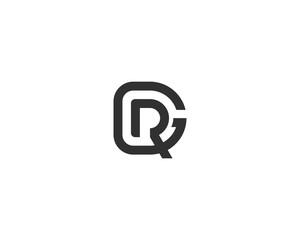 Fototapeta abstract letter logo initial RG design template vector illustration obraz