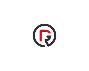 Fototapeta abstract letter logo initial DR design template vector illustration obraz