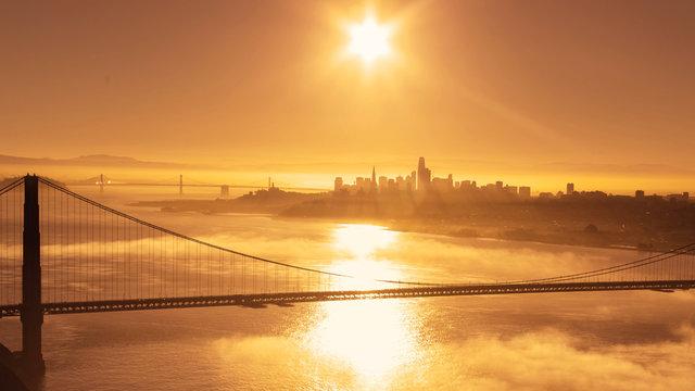 Golden Sunrise over San Francisco