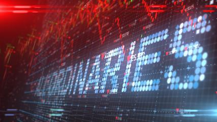 All Ordinaries Australia stock market index chart - Conceptual graphic 3D illustration rendering