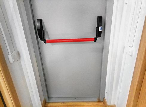 Anti-panic door handle.
