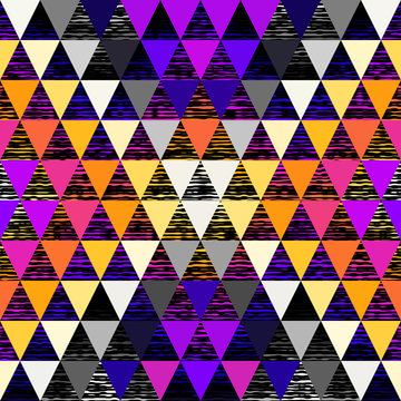 Seamless vector pattern background of a triangles.