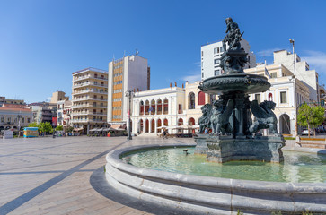 Georgiou I square (Plateia Vasileos Georgiou), Patras, Greece.