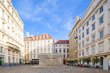 Wall Mural - morning view of Jewish Square (Judenplatz) in Vienna, Austria.
