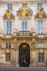 Wall Mural - facade of old town hall in Vienna, Austria.
