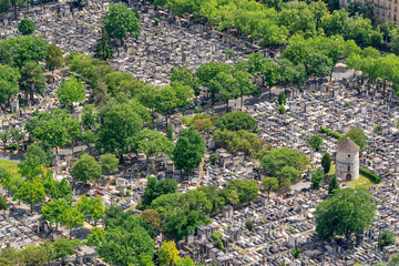 Wall Mural - Aerial view of Montparnasse cemetery  in Paris France
