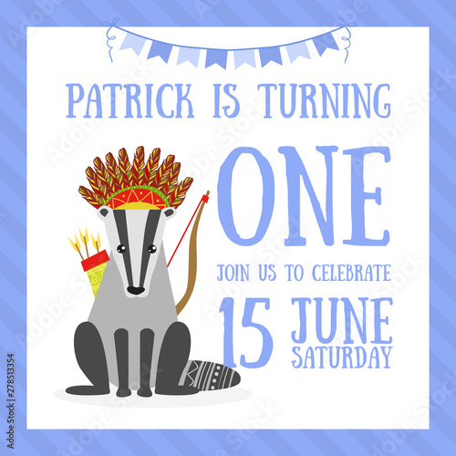 Birthday Invitation Card Template Celebration Banner With