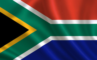 """Image of the flag of the Republic of South Africa. Series """"Africa"""""""