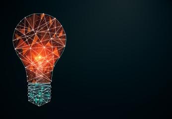 Fotobehang - Creative polygonal lamp