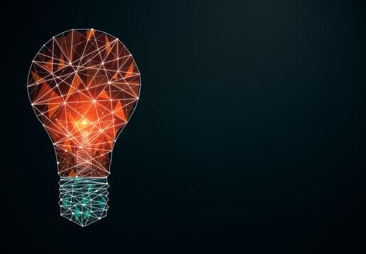 Creative polygonal lamp