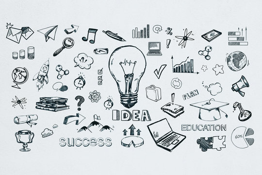Idea and success concept