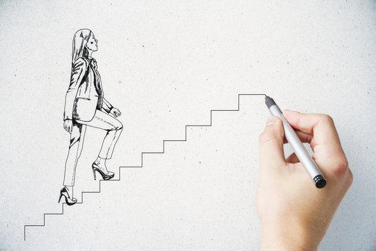 Development and success concept