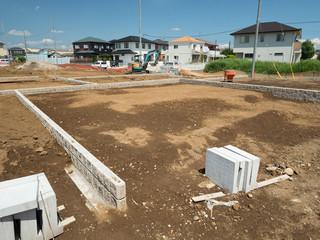 Fototapete - 住宅地の造成
