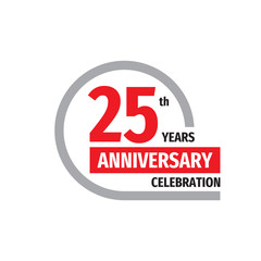 25th anniversary celebration badge logo design. Twenty five years banner poster.
