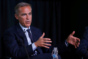 Bank of England governor Mark Carney speaks after presenting the image of mathematician Alan Turing who will appear on a new 50 pound note at the Science and Industry Museum in Manchester