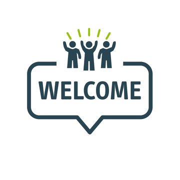 Speech bubble WELCOME Vector Illustration