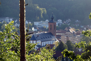 Fototapete - Rodalben mit Kirche