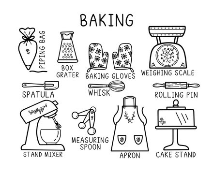 Cute Baking theme design. Could be used as stickers, decal, t-shirt printing etc