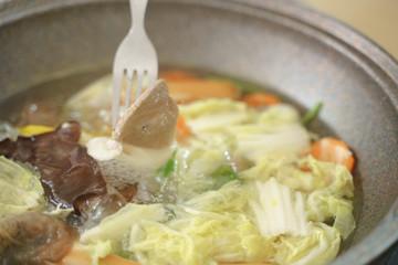 Healthy homemade hot pot